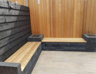 Tuinbank met hout